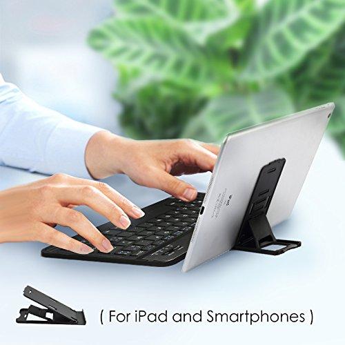 CoastaCloud Portable 10-inch Ultra Slim ABS Wireless Bluetooth Keyboard for iPad 10.5, iPad 9.7'', iPad Pro, iPad Air, iPad 2/3/4, Galaxy Tab Note and Any iOS, Android, Windows Tablets (White) by CoastaCloud (Image #6)