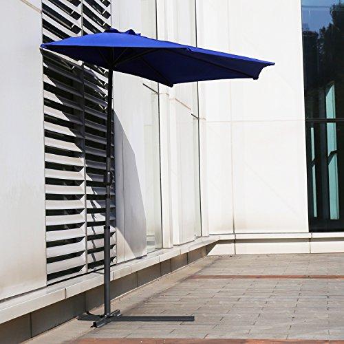 Peach Tree Sunbrella 10FT Outdoor Patio Umbrella Aluminum