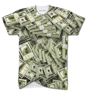 Inct American Dollar Bills All Over Print T Shirt Top Men Cash Money Swag Women Inct