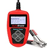 AutoKraze BA101 Automotive Battery Load Tester - Portable, Digital, Rechargeable 12 V Battery Tester - Safe, Accurate & Easy to Use - Multi-Battery Tester & Charge Tester For Cars, Boats, Motorcycles