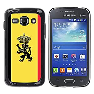 CASEMAX Slim Hard Case Cover Armor Shell FOR Samsung Galaxy Ace 3- MAJESTIC CREST FLAG