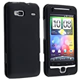 eForCity® Snap-on Rubber Coated Case Compatible with HTC Desire Z / T-Mobile G2, Black