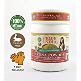Pride Of India - Henna Hair Color Powder w/ Mixed Himalayan Herbs - Red Color, Half Pound (8oz - 227gm) - 1 Pair Free Gloves Included - BUY ONE GET 50% OFF 2ND UNIT (Mix and Match - Promo AUTO APPLIES at Checkout in MULTIPLES OF 2)
