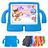 Lioeo iPad Pro 9.7 Case for Kids Protective iPad Air Case Silicone Lightweight Shockproof Carrying Case Durable Cute 3D Cartoon Children Cases and Covers for Apple iPad 5th generation 2017 New iPad 9.7 inch (Blue)
