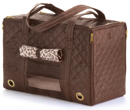 - Sherpa Park Tote Pet Carrier, Medium Brown