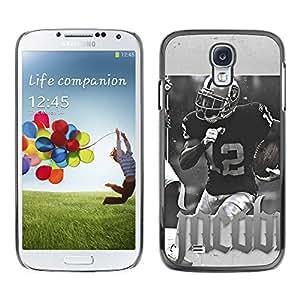 CASECO - Samsung Galaxy S4 - 12 Jacob NFL - Delgado Negro Plástico caso cubierta Shell Armor Funda Case Cover - 12 Jacob NFL