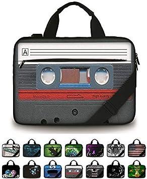 The Pattern of KiwiLaptop Case Canvas Pattern Briefcase Sleeve Laptop Shoulder Messenger Bag Case Sleeve for 13.4-14.5 inch Apple Laptop Briefcase