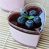 Love Heart Plastic Jelly Pudding Cup Eco Friendly Tiramisu Cake Mousse MINI Cup Wedding Ice Cream Party Decoration