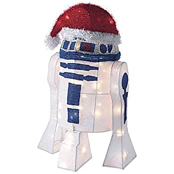 "Kurt Adler UL 50-Light 28"" R2D2 Tinsel Decoration with Package"