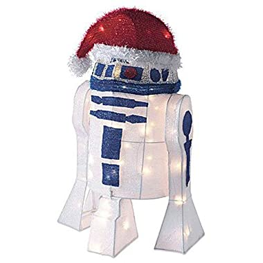 Kurt Adler UL 50-Light 28  R2D2 Tinsel Decoration with Package