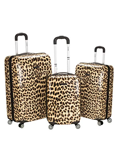Rockland Luggage 3 Piece Upright Set, Leopard, Medium ()