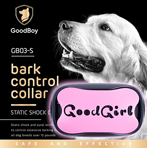 Dog Bark Collar For Small Medium And Large Dogs by GoodBoy Pet Anti Bark Device With 7 level Sound And Shock System To Control or Stop Your Pups' Excessive Barking ( 12 + lbs )