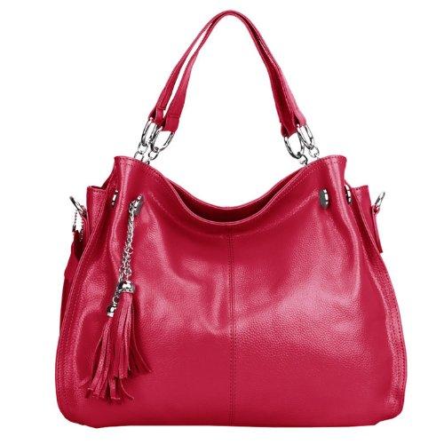 Valin - Bolso cruzados de cuero para mujer rosa - rosa