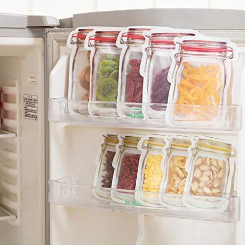 XioNiu 10 PCS Portable Seal Transparent Snacks Moisture-proof Food Storage Bag Decorating & Pastry Bags
