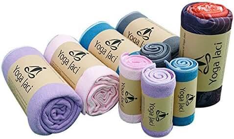 Skidless Hot Bikram Yoga Mat Towel - Hand Towel - Non Slip - Ultra Absorbent - Premium Microfiber - Quick Dry - Machine Washable