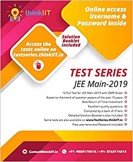 JEE Main - 2019 Test Series : Solution Manual Included: 12