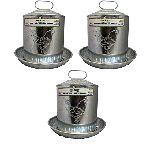 Harris Farms LLC Pet Double Metal Wall Chick Water Fountain, 2-Gal - 3 Pack by Harris Farms
