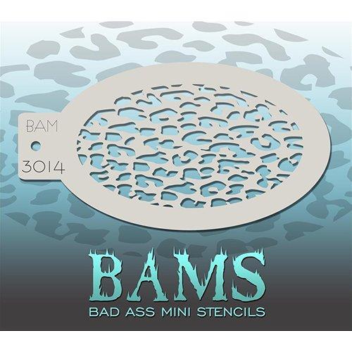 Bad Ass Small Leopard Mini Stencil BAM3014