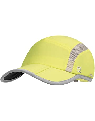 b478972c999 GADIEMKENSD UPF 50+ Outdoor Hat Folding Reflective Running Cap Unstructured  Sport Hats for Men