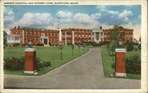 - Webber Hospital and Nurses' Home Biddeford, Maine Original Vintage Postcard