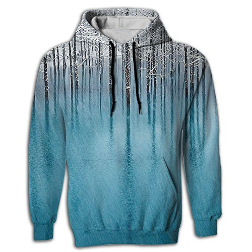 Snow Tree Men's Adult Print Hoodies Cozy Drawstring Pockets Pullover Hooded Sweatshirt Prime Exclusive -