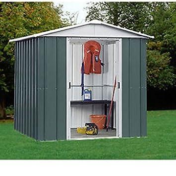 yardmaster 6x4 metal garden shed 10 year guarantee apex roof