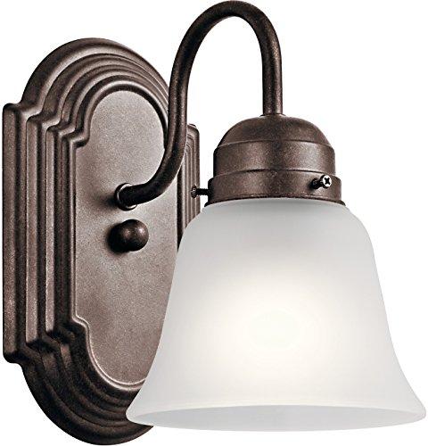 Kichler Lighting 5334TZS One Light Wall Sconce, Tannery Bronze