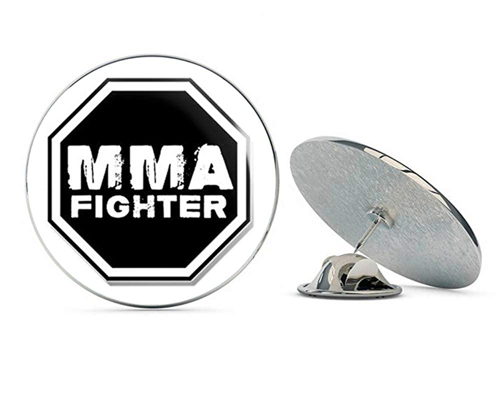 NYC Jewelers Octagon Shaped MMA Fighter (Martial Arts Fight UFC) Metal 0.75 Lapel Hat Pin Tie Tack Pinback