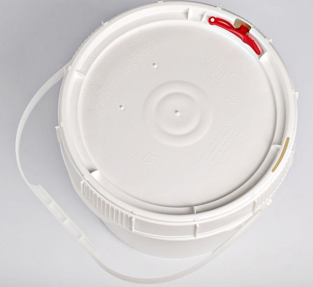 Life Latch 1.25 GAL Screw TOP Food Grade Bucket-6 Pack by BayTec (Image #2)