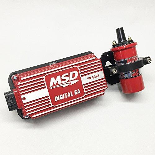 MSD 6201-K2 Ignition Kit Digital 6A Box Blaster 2 Coil Billet Mounting Bracket 6a Ignition Control