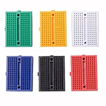 Sysly 170 Points Mini Solderless Prototype Breadboard for Arduino Proto Shield 6 Pcs