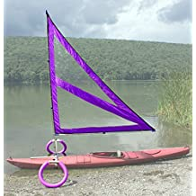 Harmony Upwind Kayak Sail and Canoe Sail Kit (Purple). Complete with Telescoping Mast, Boom, Outriggers, All Rigging Included! Compact, Portable, Easy to Set up - Start Sailing This Season!