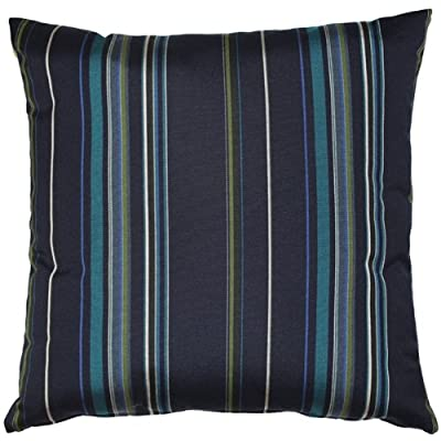 PILLOW DÉCOR Sunbrella Stanton Lagoon 20x20 Outdoor Pillow: Home & Kitchen