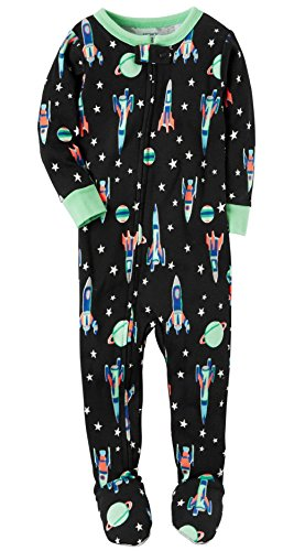 1-Piece Snug Fit Cotton PJs (12 Months, Neon Space) by Baby Clothes - Carter's
