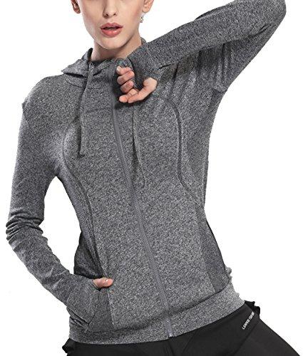 HIYAGO Lightweight Active Performance Full-Zip Hoodie Jacket