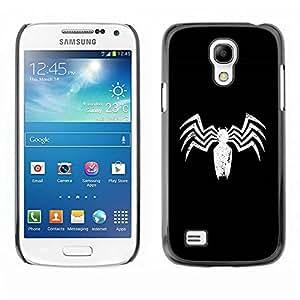 Paccase / SLIM PC / Aliminium Casa Carcasa Funda Case Cover para - Minimalist Spider - Samsung Galaxy S4 Mini i9190 MINI VERSION!