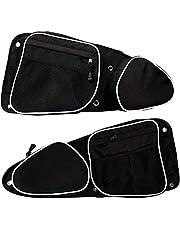 UCARE 2 Pcs UTV Side Door Bags for Polaris RZR, UTV Front Door Side Storage Bag Set with Knee Pad for 2014-2019 RZR XP4 1000/2014-2019 XP1000/RZR Turbo/2015-2019 RZR 900 (White)