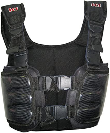 Cuircon Auto Racing Body Protectors Youth Small, Black//Silver Go Kart Carbon Rib Vest//Riders Safety Jackets//Body Armour