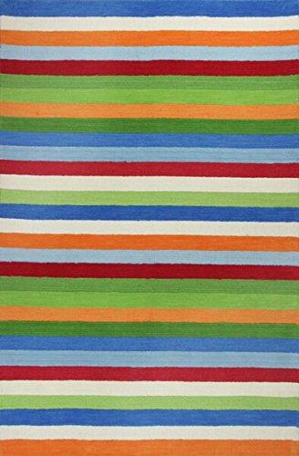 (KAS Oriental Rugs Kidding Around Collection Cool Stripes Area Rug, 3'3