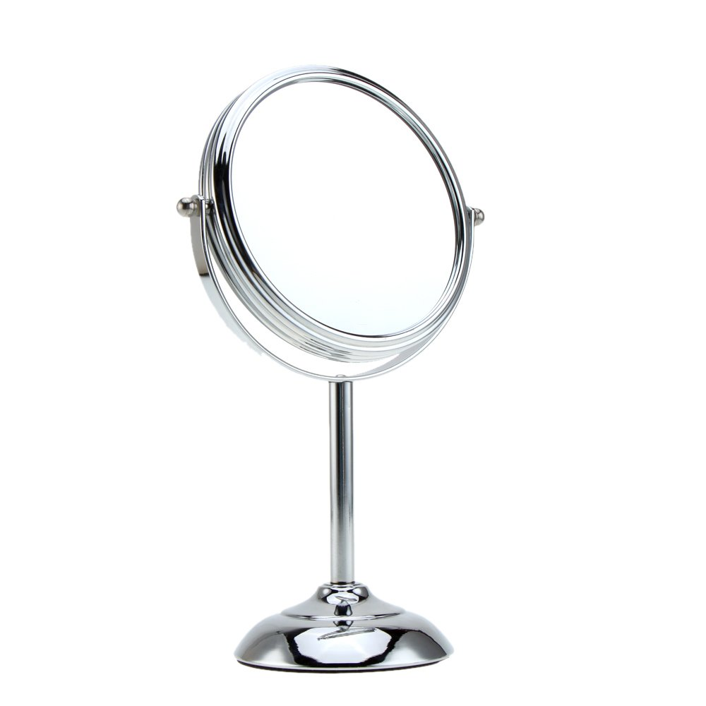 Anself 6 Inch 10x Magnification Round Double Dual Side Rotating Cosmetic Mirror