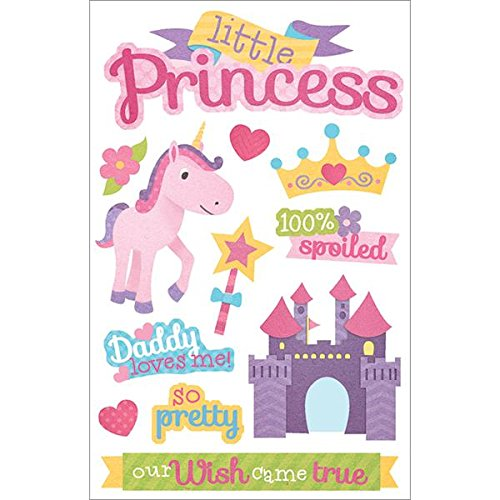 (Paper House Productions STDM-210E 3D Stickers, Little Princess)
