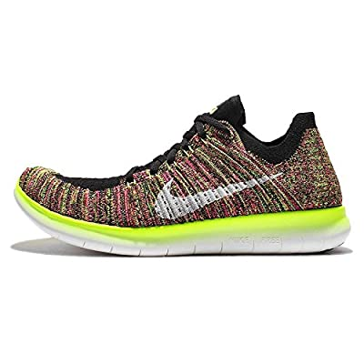 Nike Women's Free Running Motion Flyknit Shoes, Multi-Color/Multi-Color - 7 B(M) US