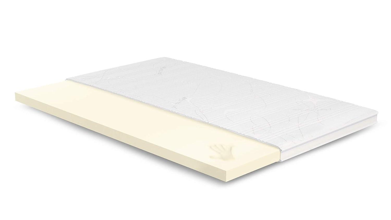 AS Meister 7cm Visco Topper 120x210 cm - Purotex Bezug mit 3D-Mesh-Klimaband & Stegkante - 5cm Visco RG 50 - Matratzenauflage 120x210 für Ihr Bett