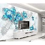 LIWALLPAPER-Carta-Da-Parati-3D-Fotomurali-Farfalla-Fiore-Gioielli-Di-Pietre-Preziose-Camera-da-Letto-Decorazione-da-Muro-XXL-Poster-Design-Carta-per-pareti-200cmx140cm