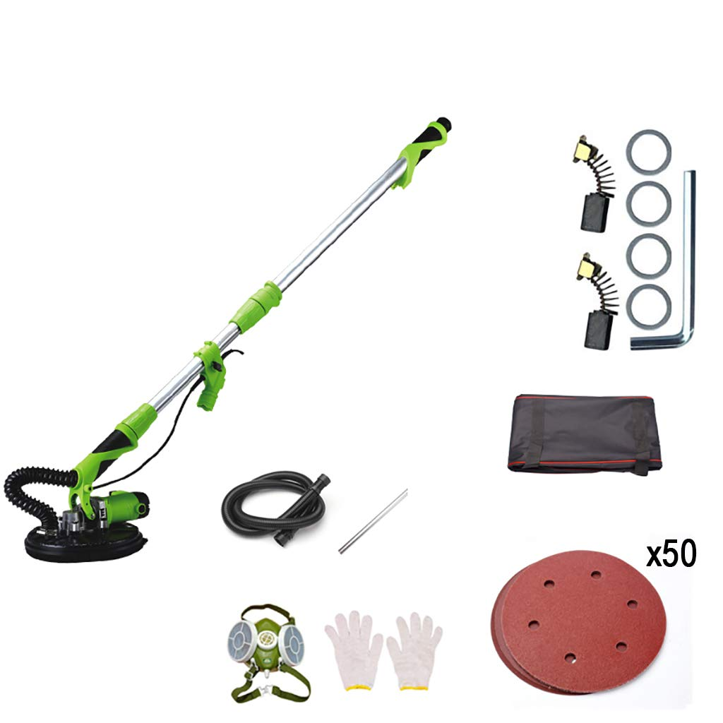 CJM Polishers Wall Sanding Machine (750 W, 1.000-2.100 RPM, Sanding Wheel: Round and Triangular, Sanding Wheels, with Suction Hose and dust Bag)