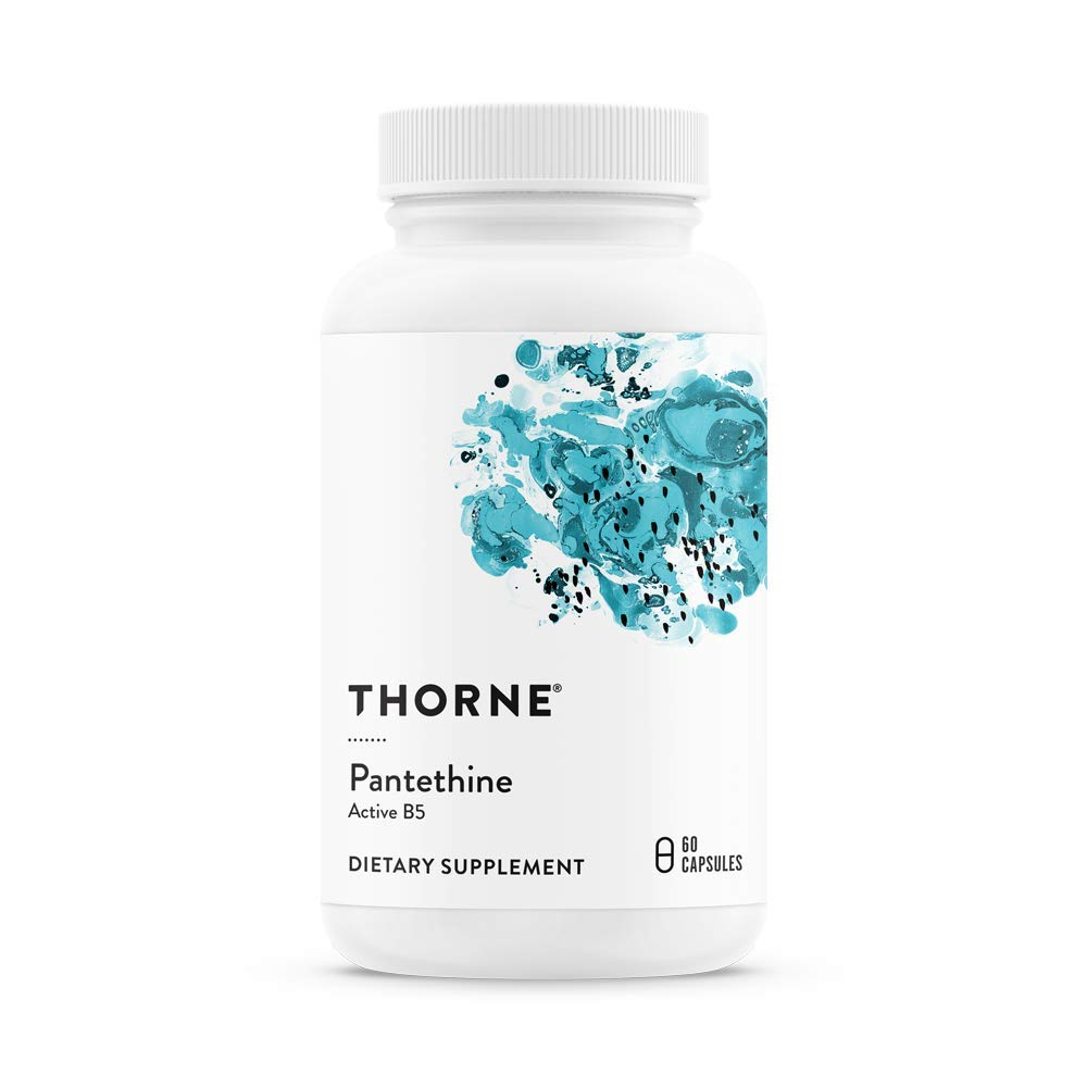 Thorne Research - Pantethine - Vitamin B5 (Pantothenic Acid) Supplement in Its Active Form - 60 Capsules