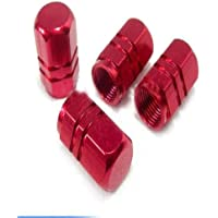 kwmobile Set of 20 Car Wheel Nuts Covers for 17 tires Red Bolt Caps Hub Screw Cover