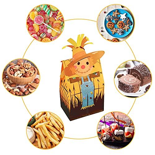 TOXOY Halloween Candy Paper Bags, 30 PCS Halloween Paper Party Bags 12 Styles Individual Halloween Treat Bags Trick or Treat Goodie Bags for Halloween Party Favor