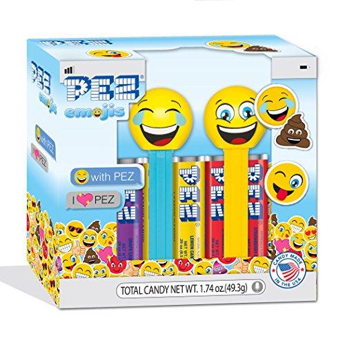 Santa Pez Dispenser - PEZ Candy Twin Pack PEZemojis, 5.3 Ounce