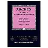 "Arches Water Colour Pad, 140lb/300GSM, Hot Pressed, 10"" x 14"""